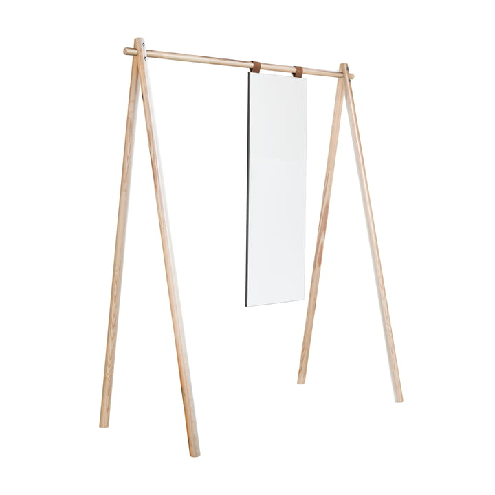 Hongi wardrobe with mirror in nature by Karup