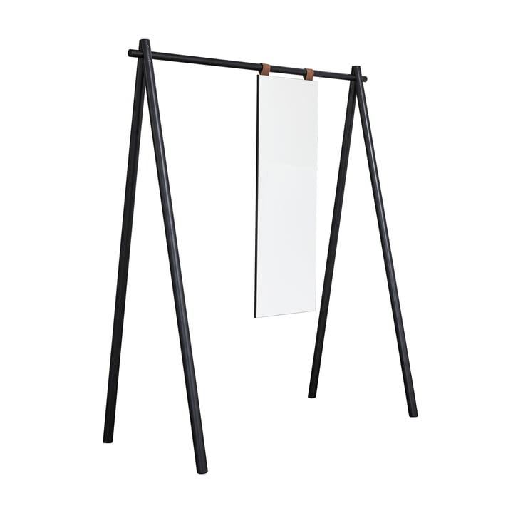 Hongi wardrobe with mirror in black by Karup Design