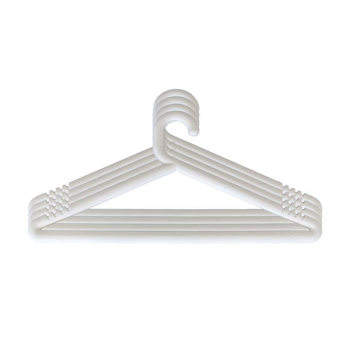 Hongi coat hanger in white (set of 4) by Karup Design