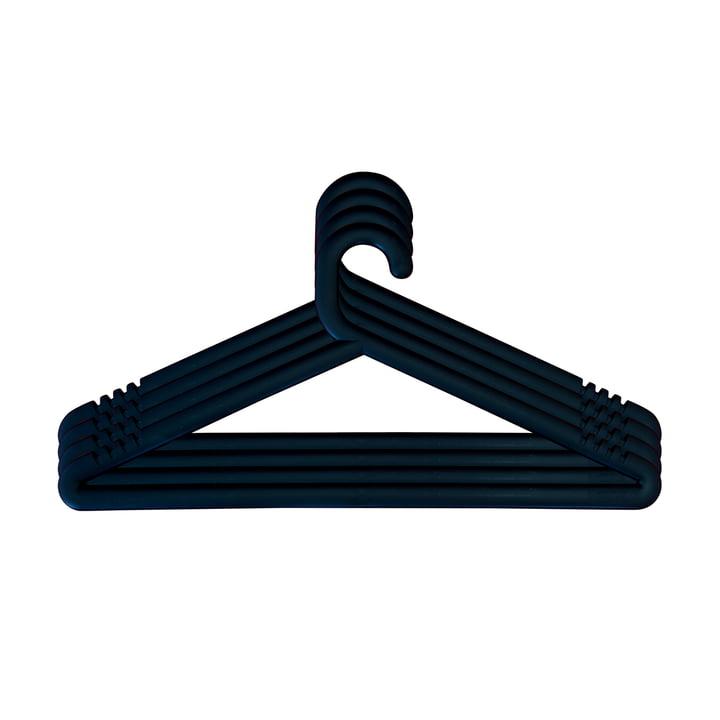 Hongi coat hanger in black (set of 4) by Karup Design
