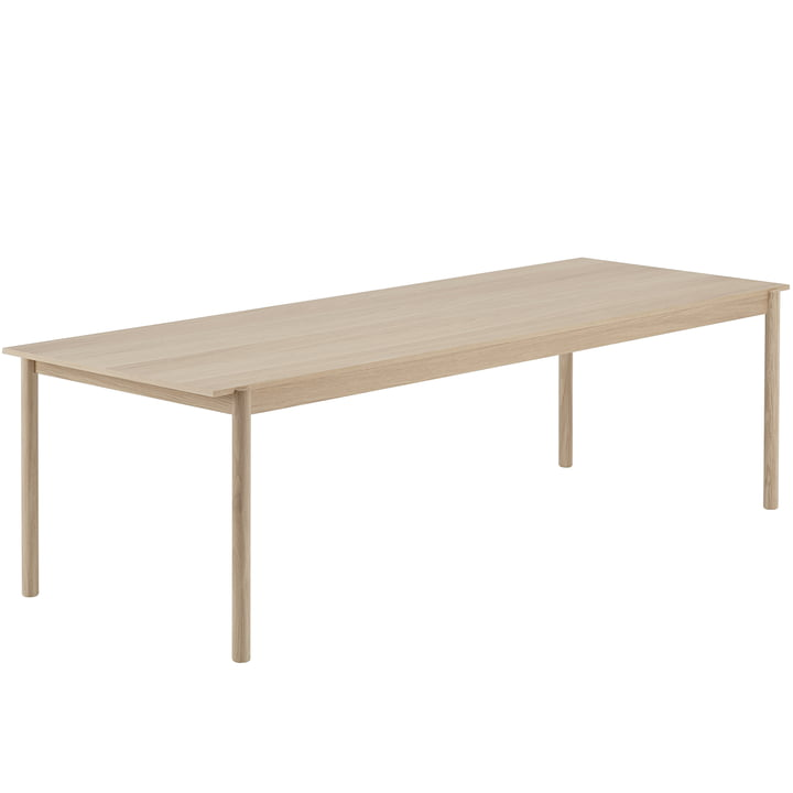 Linear Wood dining table 260 x 90 cm in oak by Muuto