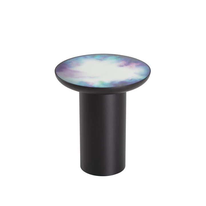 Francis side table Ø 40 x H 45 cm from Petite Friture in black / blue and purple