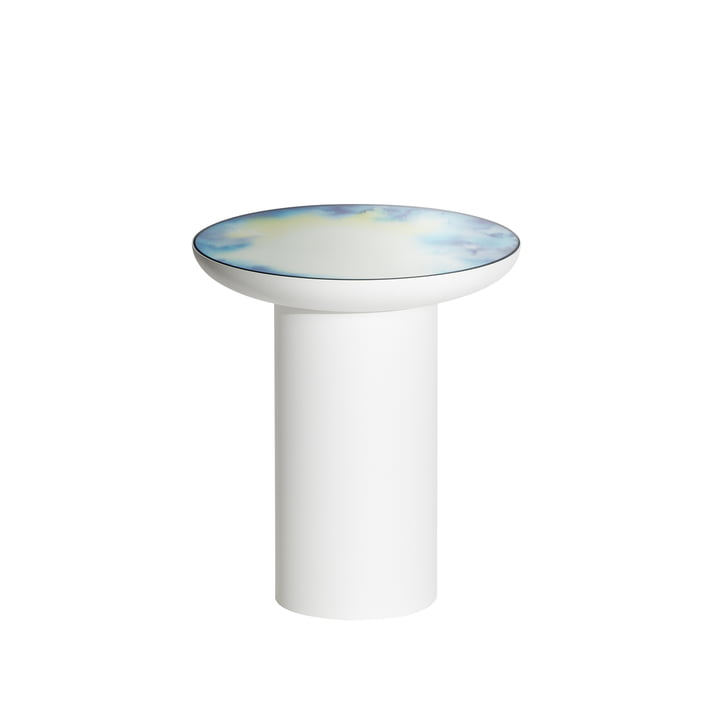 Francis side table Ø 40 x H 45 cm from Petite Friture in white / blue and yellow
