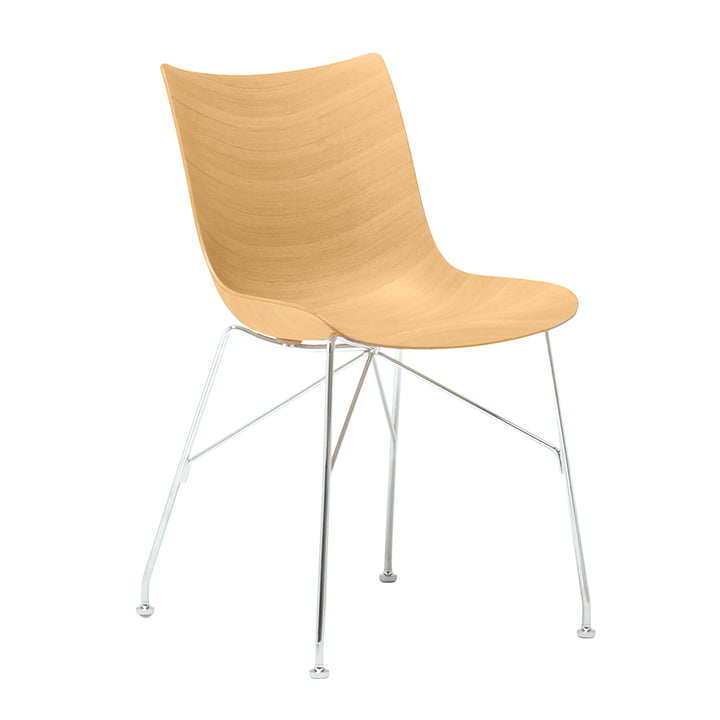 P/Wood chair from Kartell in chrome-plated / bright