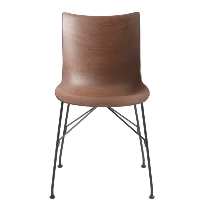 P/Wood chair by Kartell in black / dark