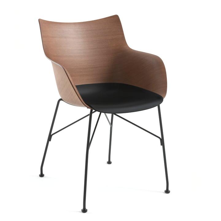 Q/Wood armchair by Kartell in black / black / dark