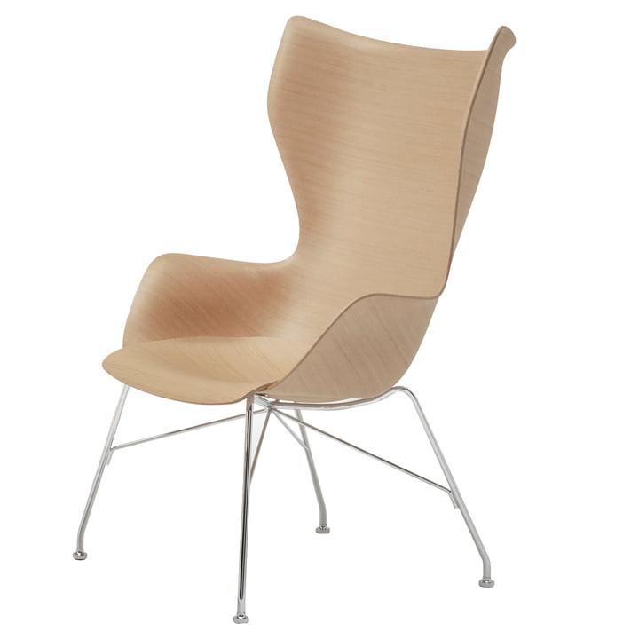 K/Wood armchair from Kartell in chromed / ash light