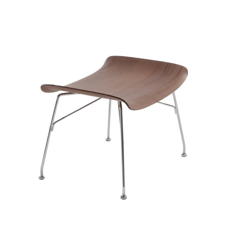 S/Wood stool from Kartell in chrome / dark