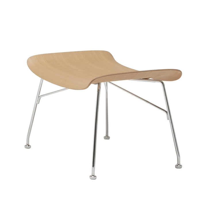 S/Wood stool by Kartell in chrome-plated / ash light