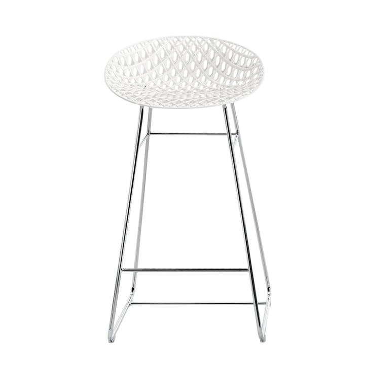 Smatrik bar chair from Kartell in chrome / white