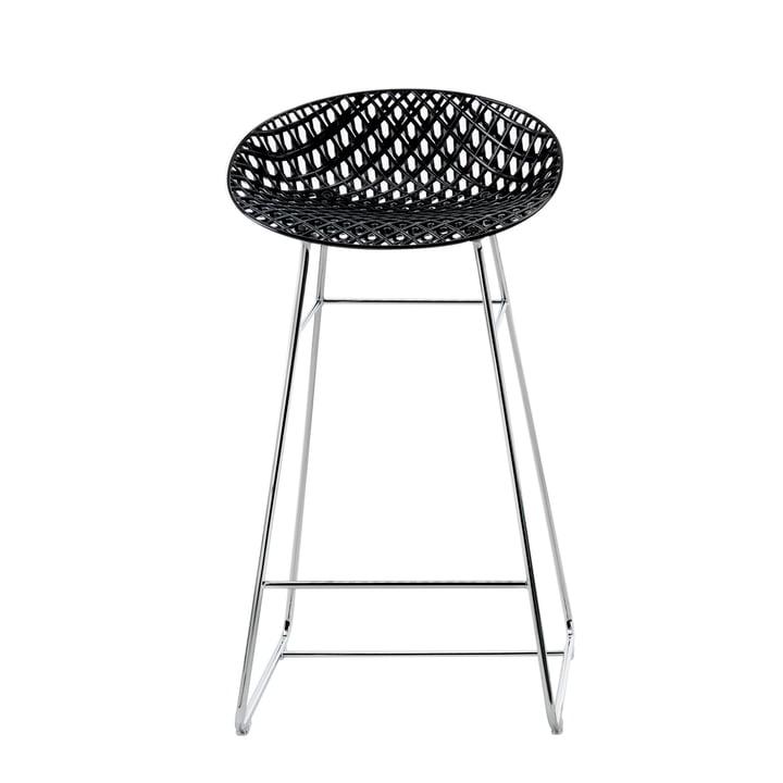 Smatrik bar chair from Kartell in chrome / black