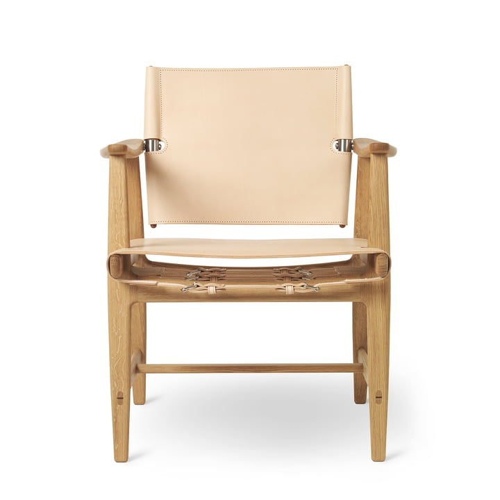 BM1160 Huntsman Chair, oak oiled / natural saddle leather (stainless steel fittings) by Carl Hansen