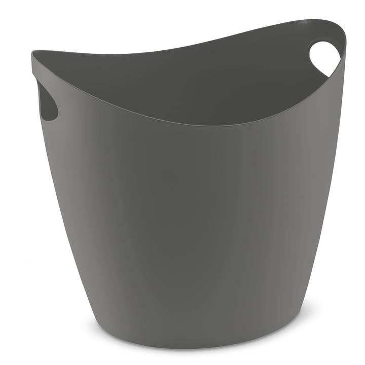 Zuber XL tub in deep grey from Koziol