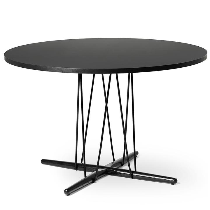 E020 Embrace table Ø 13 9. 5 cm in oak black lacquered / laminate black / black by Carl Hansen