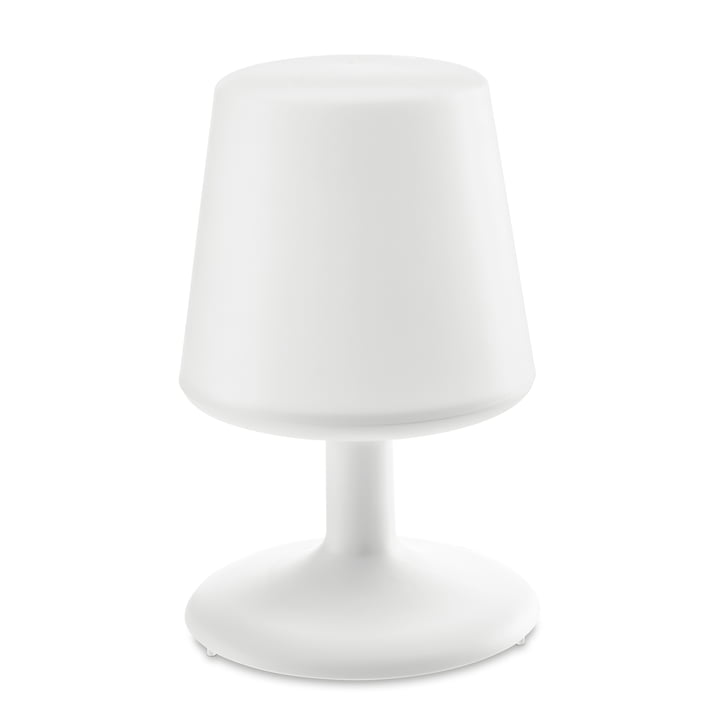 Light to go cordless table lamp in cotton white by Koziol