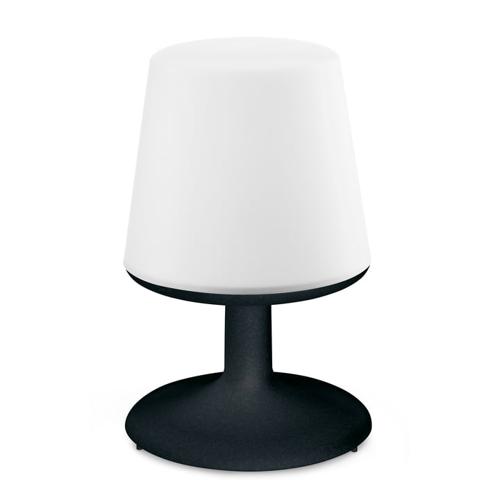 Light to go cordless table lamp in cosmos black by Koziol