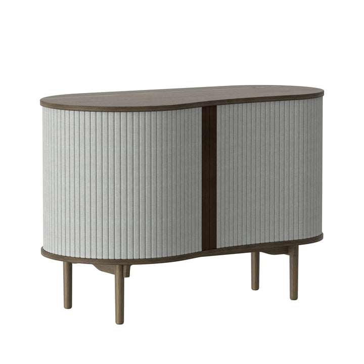 Audacious chest of drawers from Umage in dark oak / silver grey