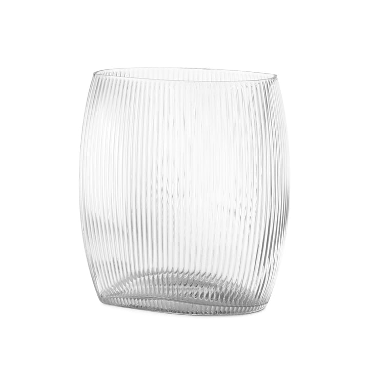 Tide Vase H 18 cm in clear by Normann Copenhagen