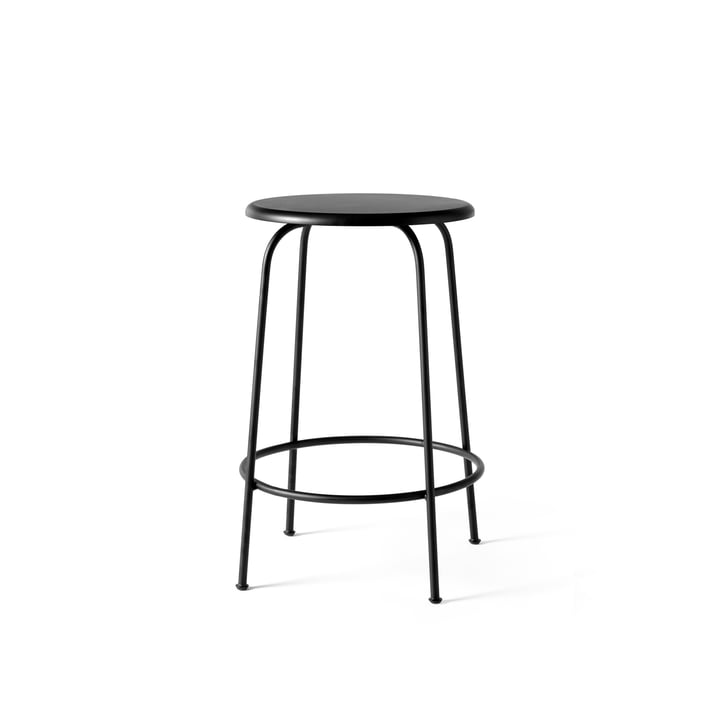 Afteroom Bar stool without backrest, black, H: 65 cm from Menu