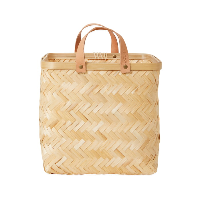 Sporta storage basket in natural bamboo by OYOY