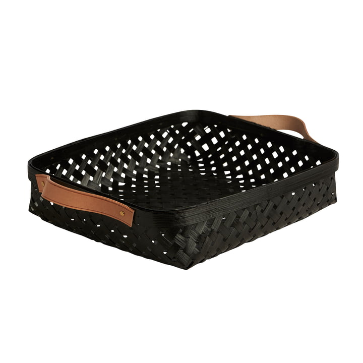 Sporta bread basket, 30 x 25 cm, bamboo black by OYOY