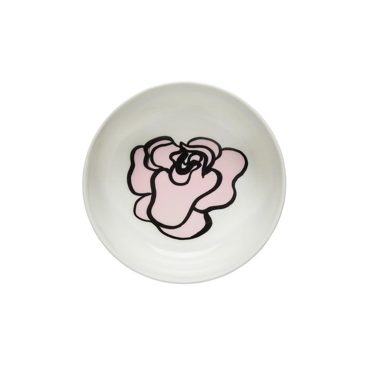 Oiva Eläköön Elämä bowl 400 ml by Marimekko in white / pink