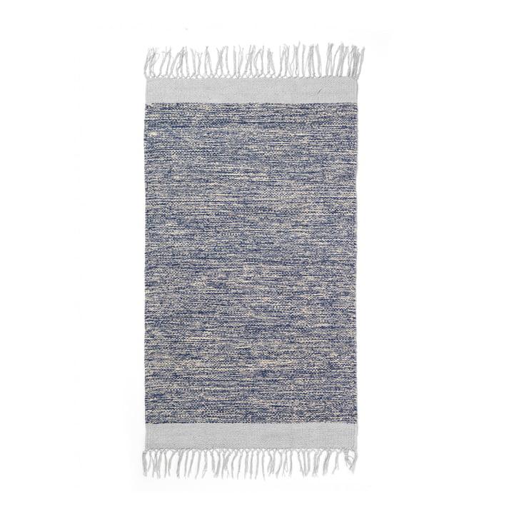 Melange bath mat 60 x 100 cm from ferm Living in blue
