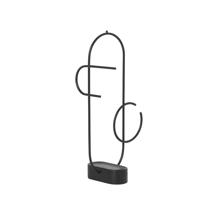 Obu jewelry stand from ferm Living in black