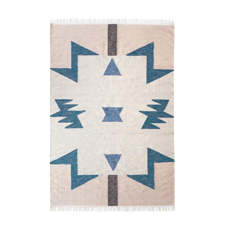 Kelim Rug Blue Triangles by ferm Living in big