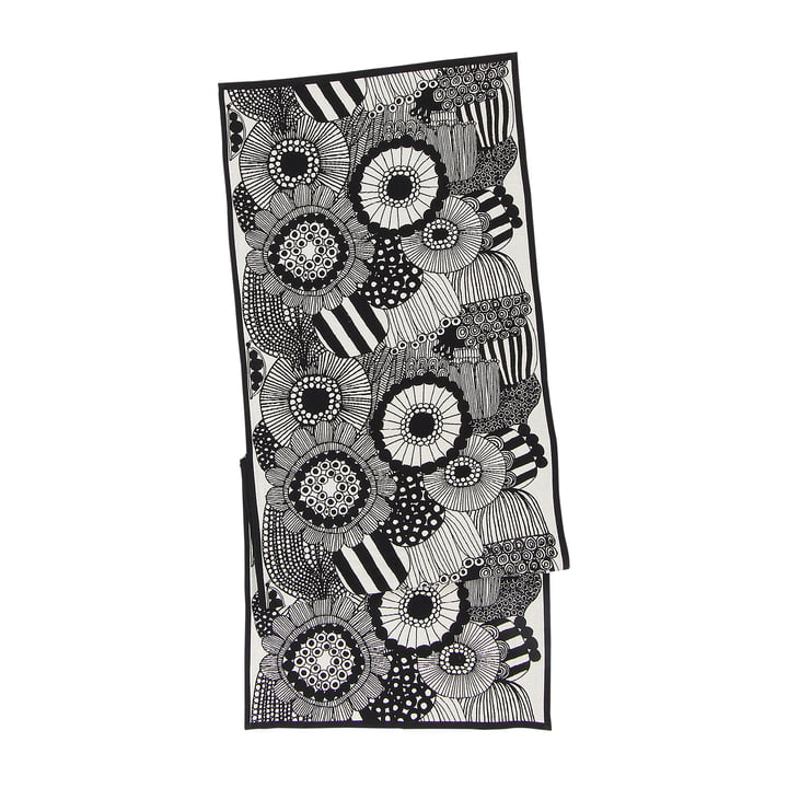 Pieni Siirtolapuutarha Table Runner 47 x 150 cm by Marimekko in black / white