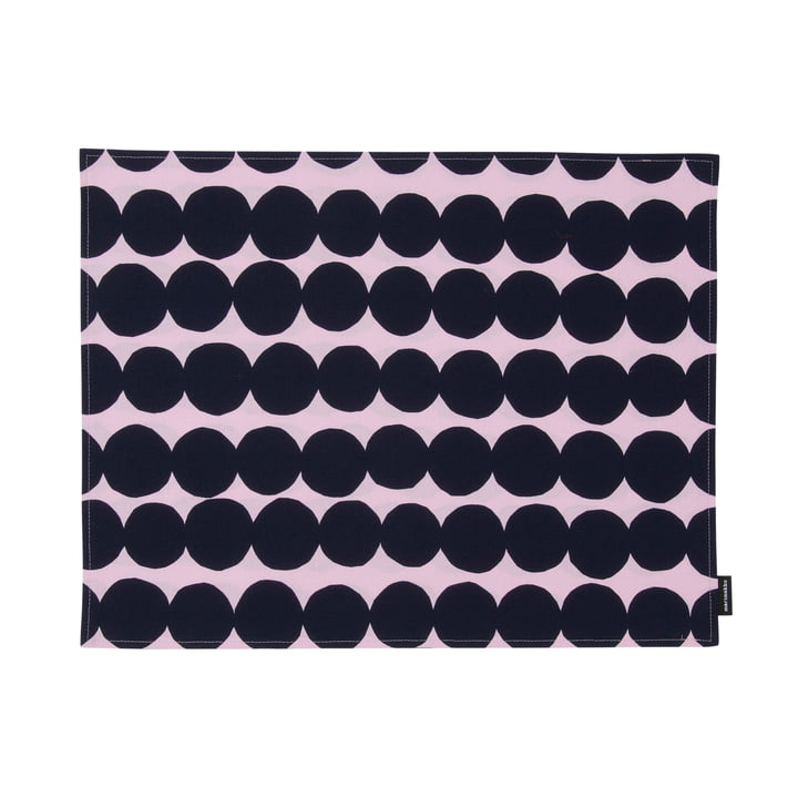 Räsymatto placemat by Marimekko in pink / dark blue