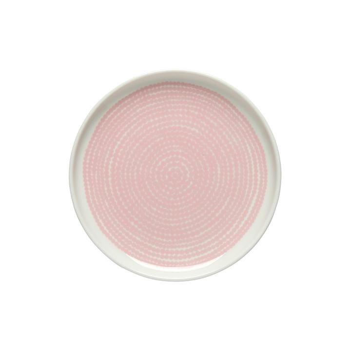 Oiva Räsymatto plate Ø 1 3. 5 cm from Marimekko in white / pink
