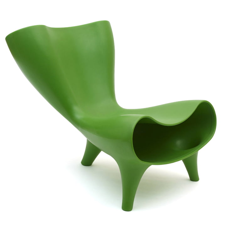 Orgone Chair by Löffler in pure green (RAL 6037)
