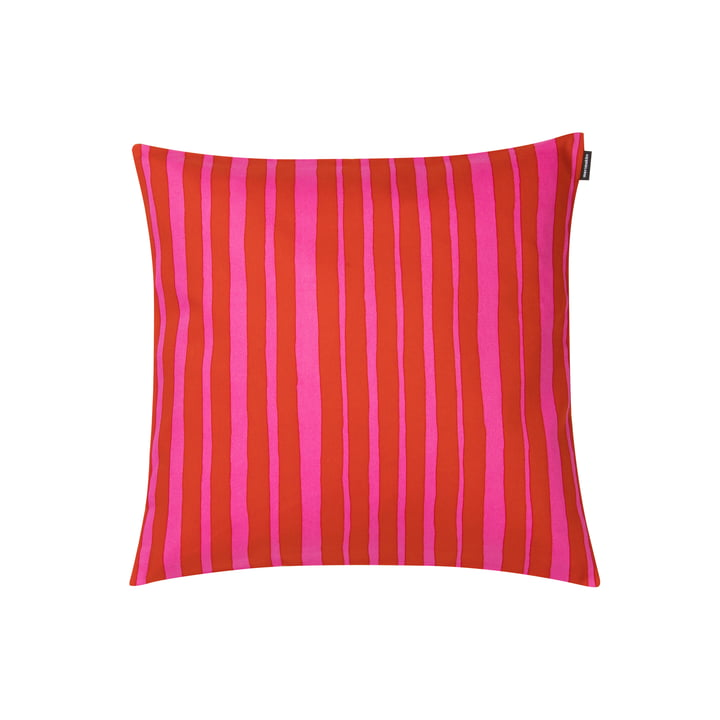 Raide cushion cover 40 x 40 cm from Marimekko in red / pink