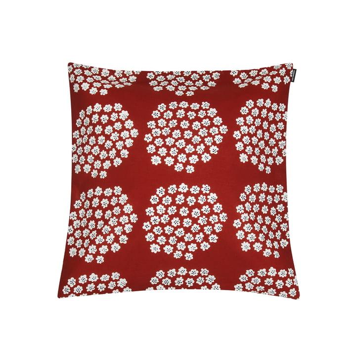 Puketti pillowcase 45 x 45 cm from Marimekko in red / dark blue / white