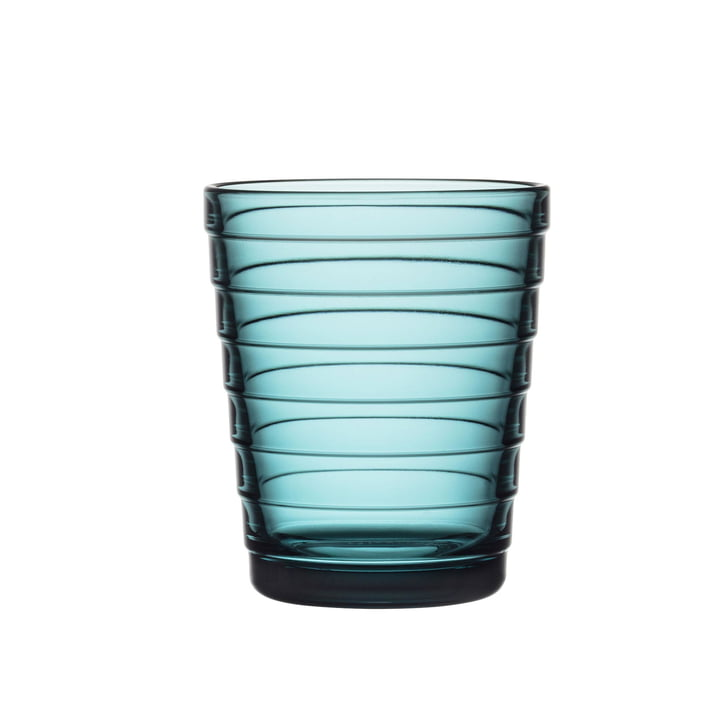 Aino Aalto glass cup 22 cl from Iittala in sea blue