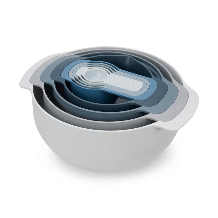 Nest 9 Plus kitchen set by Joseph Joseph in ocean / sky