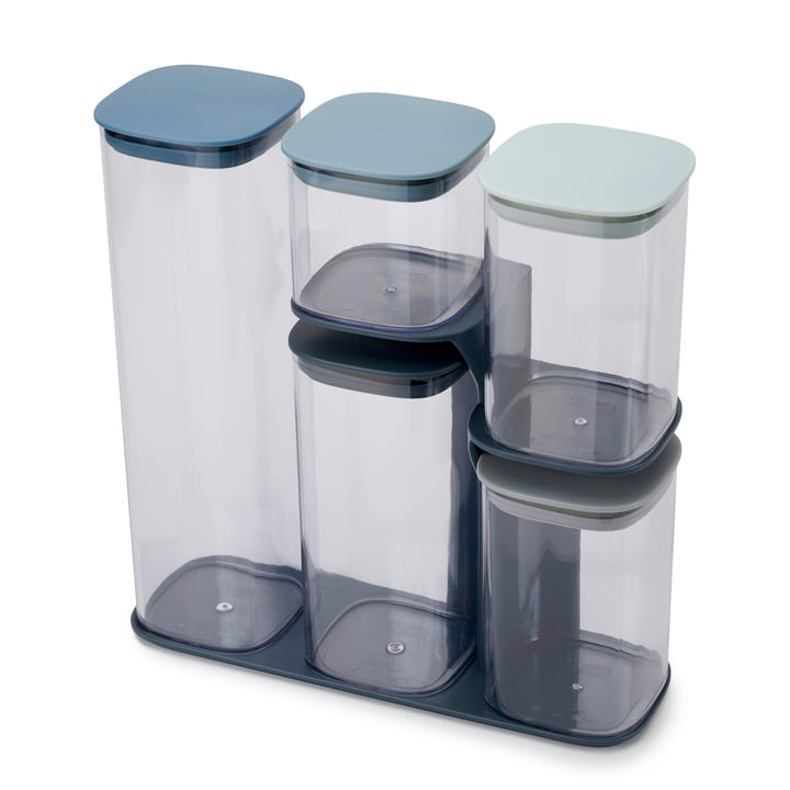 Podium Storage bin set with stand 5 pieces from Joseph Joseph in ocean / sky