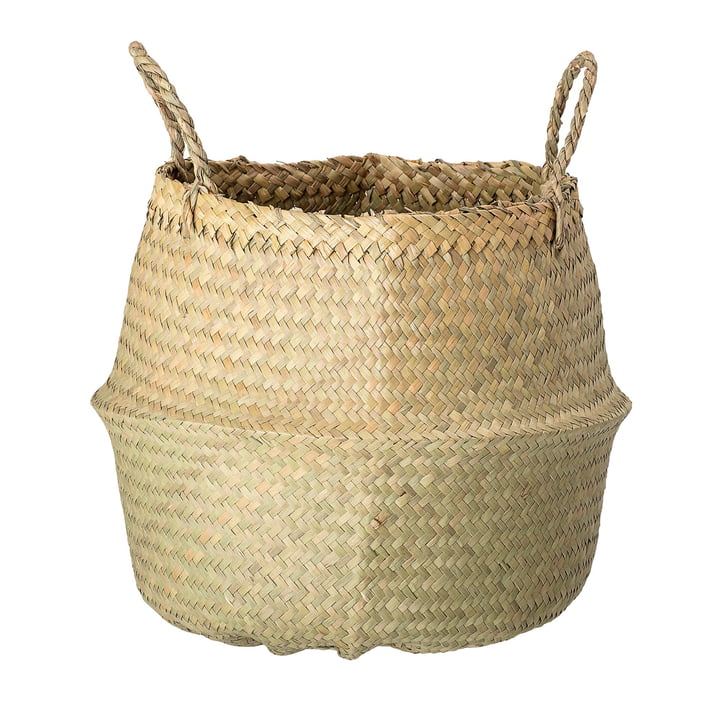 Seaweed basket Ø 40 x H 30 cm from Bloomingville in nature