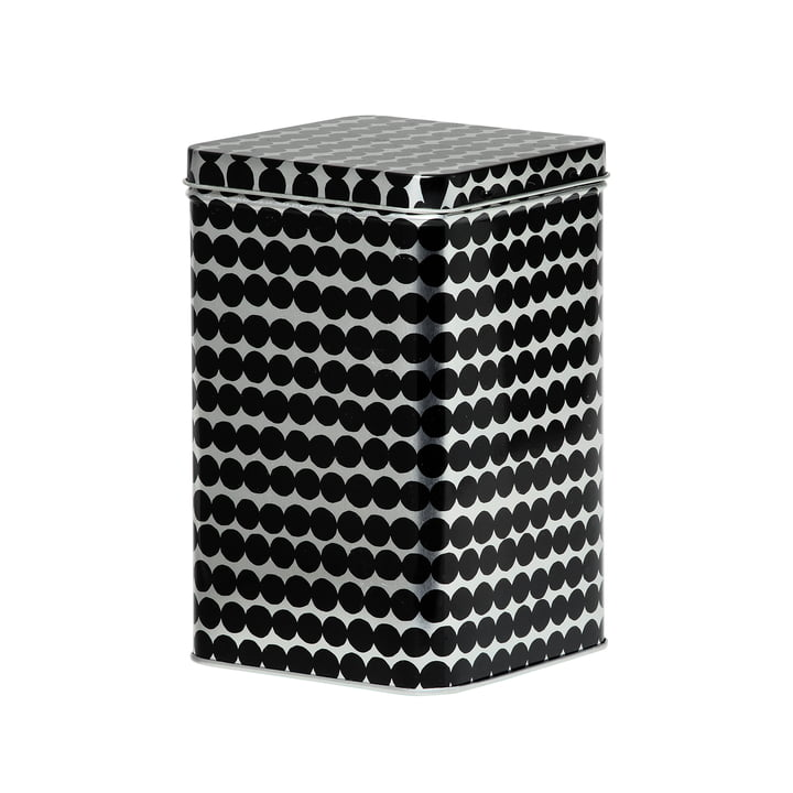 Räsymatto storage box H 17,5 cm from Marimekko in black / grey