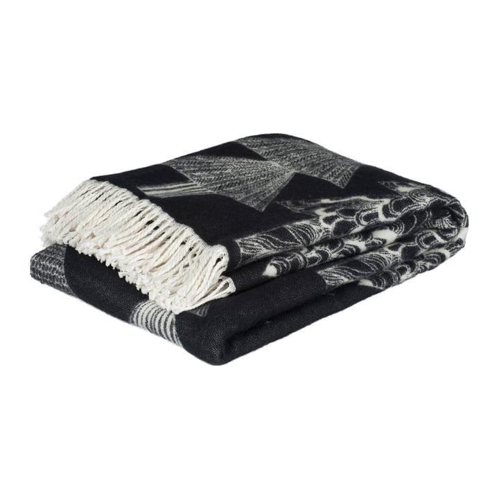 Kuusikossa rug 130 x 170 cm from Marimekko in black / white