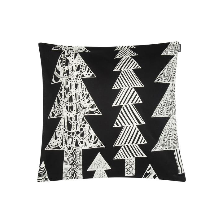 Kuusikossa pillowcase 45 x 45 cm from Marimekko in black / white