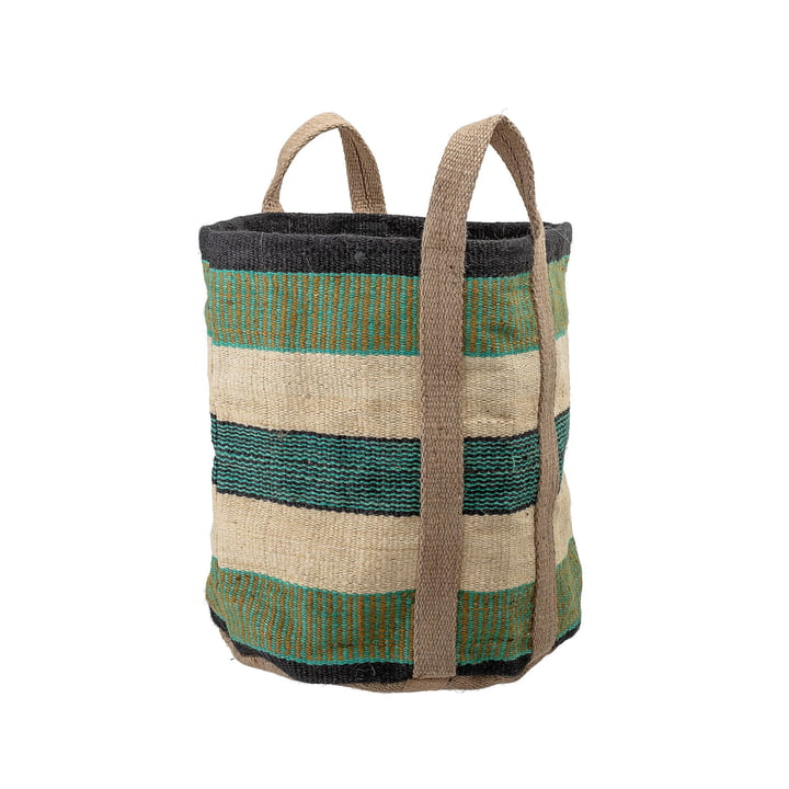 Jute basket H 60 cm from Bloomingville in green