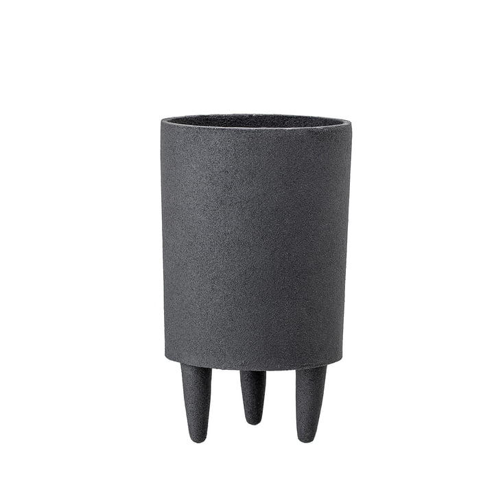 Aluminium plant pot with feet Ø 10 x H 18 cm from Bloomingville in black
