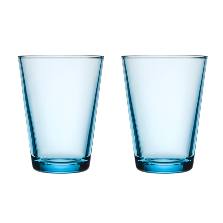 Kartio drinking glass 40 cl (set of 2) from Iittala in light blue