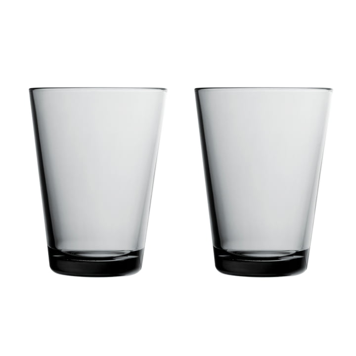 Kartio drinking glass 40 cl (set of 2) from Iittala in grey