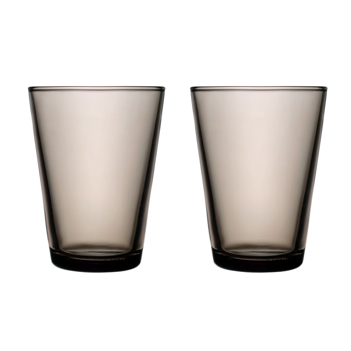 Kartio drinking glass 40 cl (set of 2) from Iittala in sand