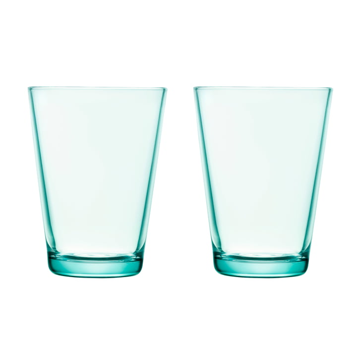 Kartio Drinking glass 40 cl (set of 2) from Iittala in water green