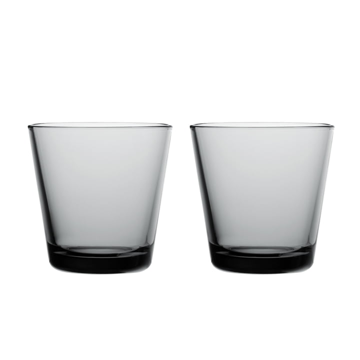 Kartio Drinking glass 21 cl (set of 2) from Iittala in grey