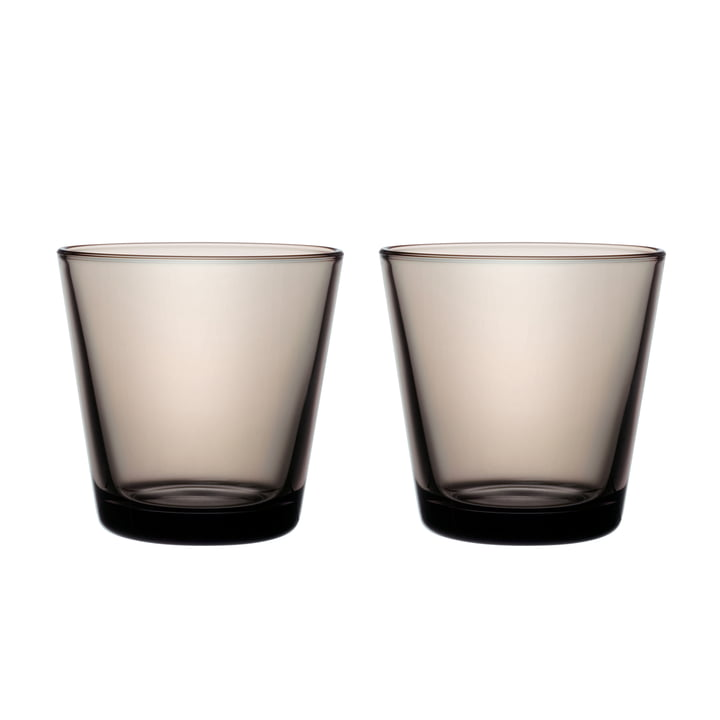 Kartio drinking glass 21 cl (set of 2) from Iittala in sand